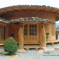Korean Cordwood (Cobwood) Soil Houses
