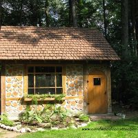 Cordwood Cottage Garden Shed (recycled)