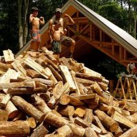 """Cordwood Cabin (with 24"""" thick walls) is energy efficient & fortress-like (revisited)"""