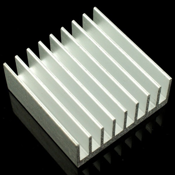 al heat sink with adhesive tape 30 30 12mm