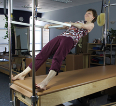 Betsy Walker uses Pilates to build core strength