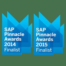 SAP Pinnacle Awards In 2014 And 2015