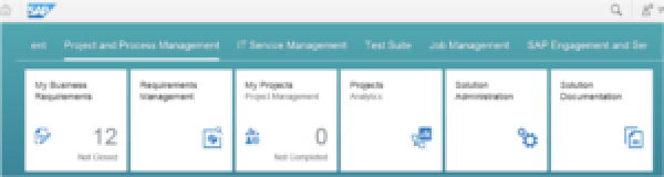 SAP Solution Manager Fiori launchpad