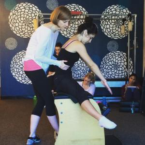 Alexia with Athena (Copyright, Core Arts Pilates)