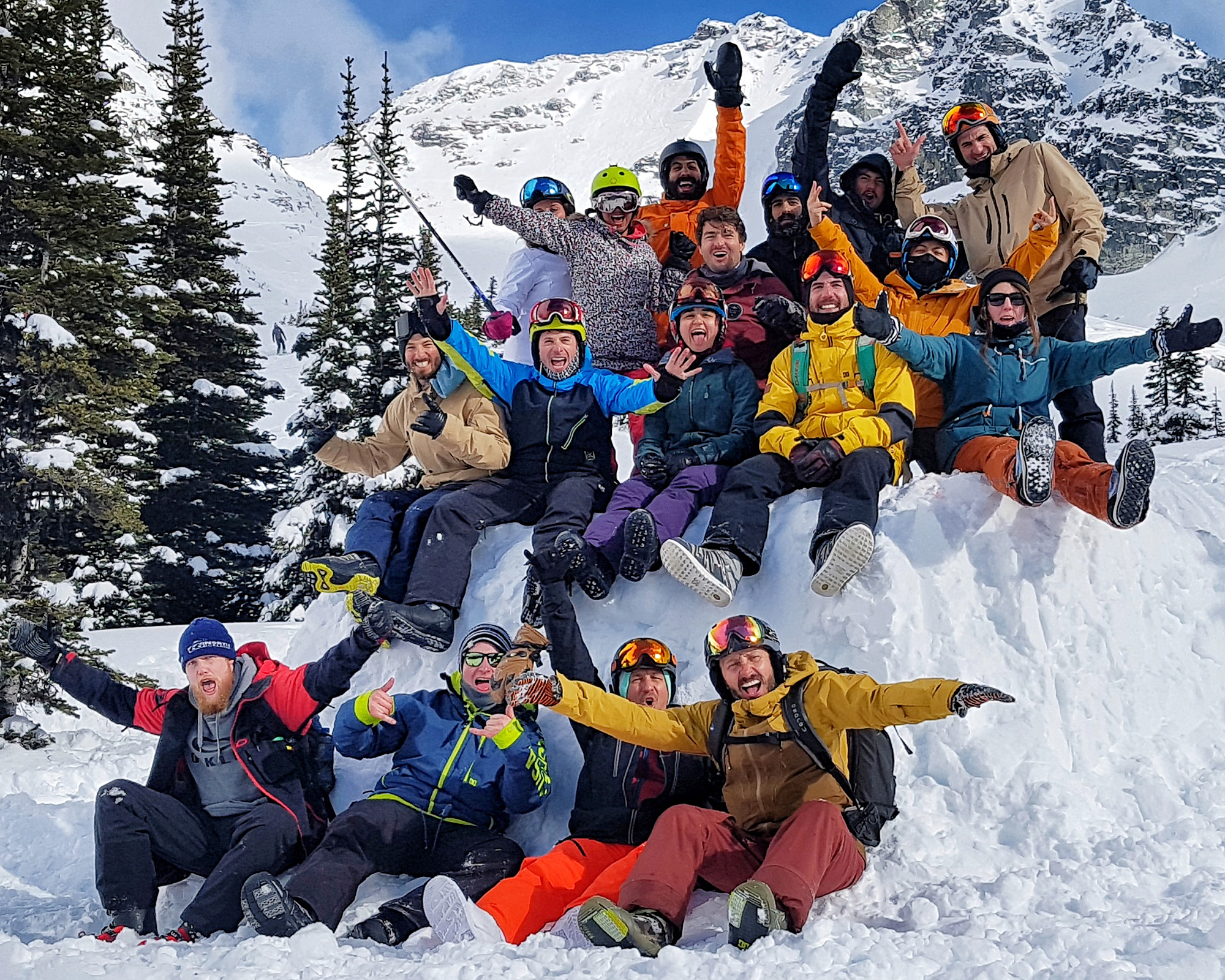 Freeride Snowboard Camp Whistler Canada Group Friends
