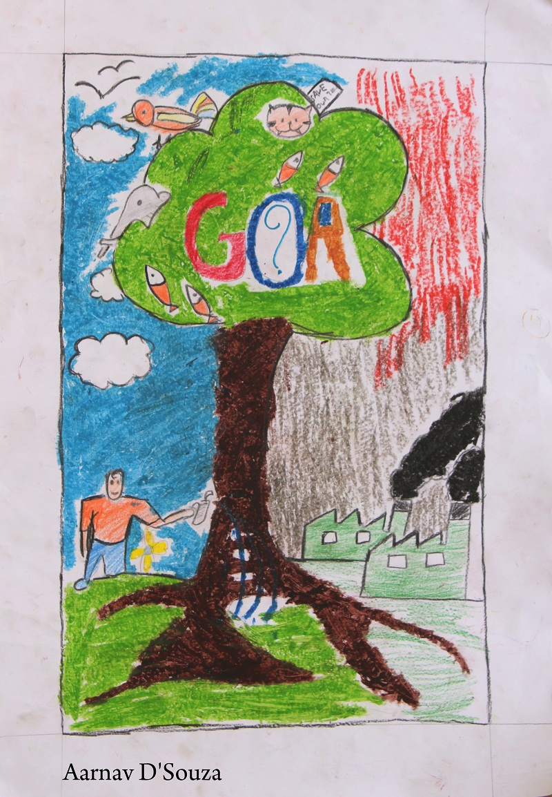 Winners of world environment day drawing competition on june 05 2013 at the kala academy goa by south asia foundation