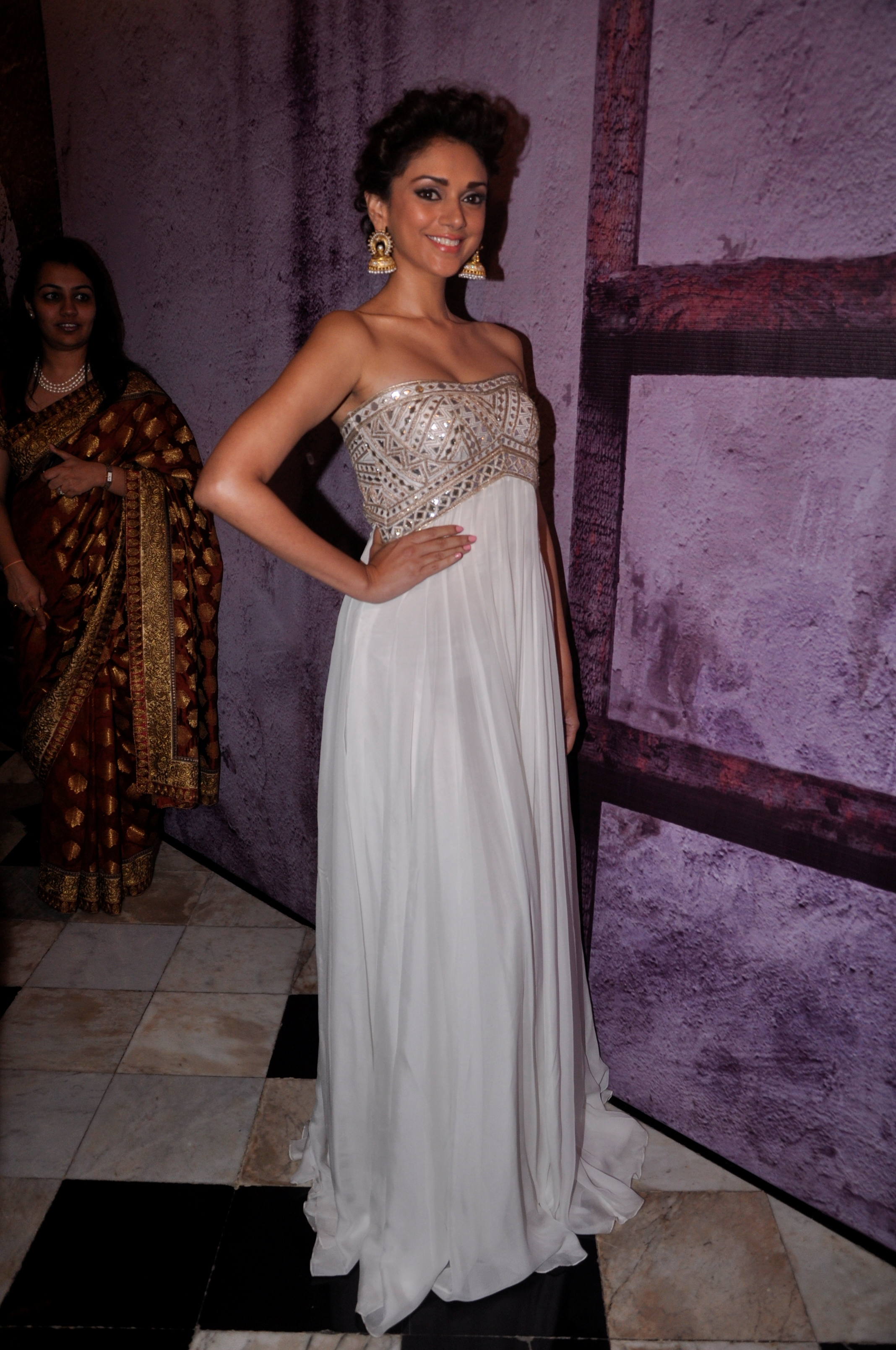 Spotted: Aditi Rao Hydari in Anita Dongre gown and Pinkcity earrings ...