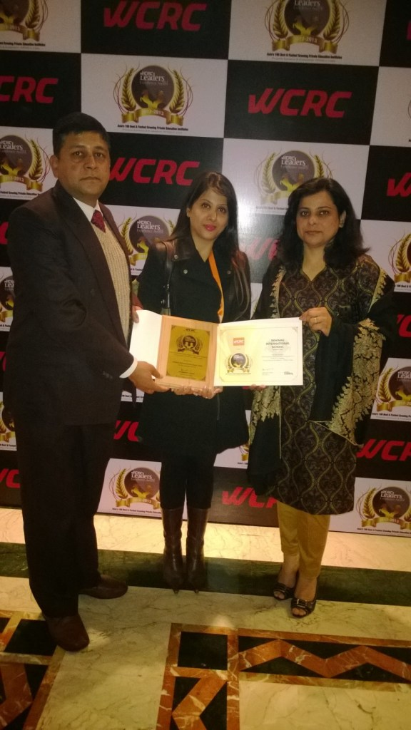 From Left to Right - Mr. Dhirendra Singh SIS Principal; Ms. Aarti Sehwag  SIS Chairperson and Ms. Ritu Khanna  SIS Di_