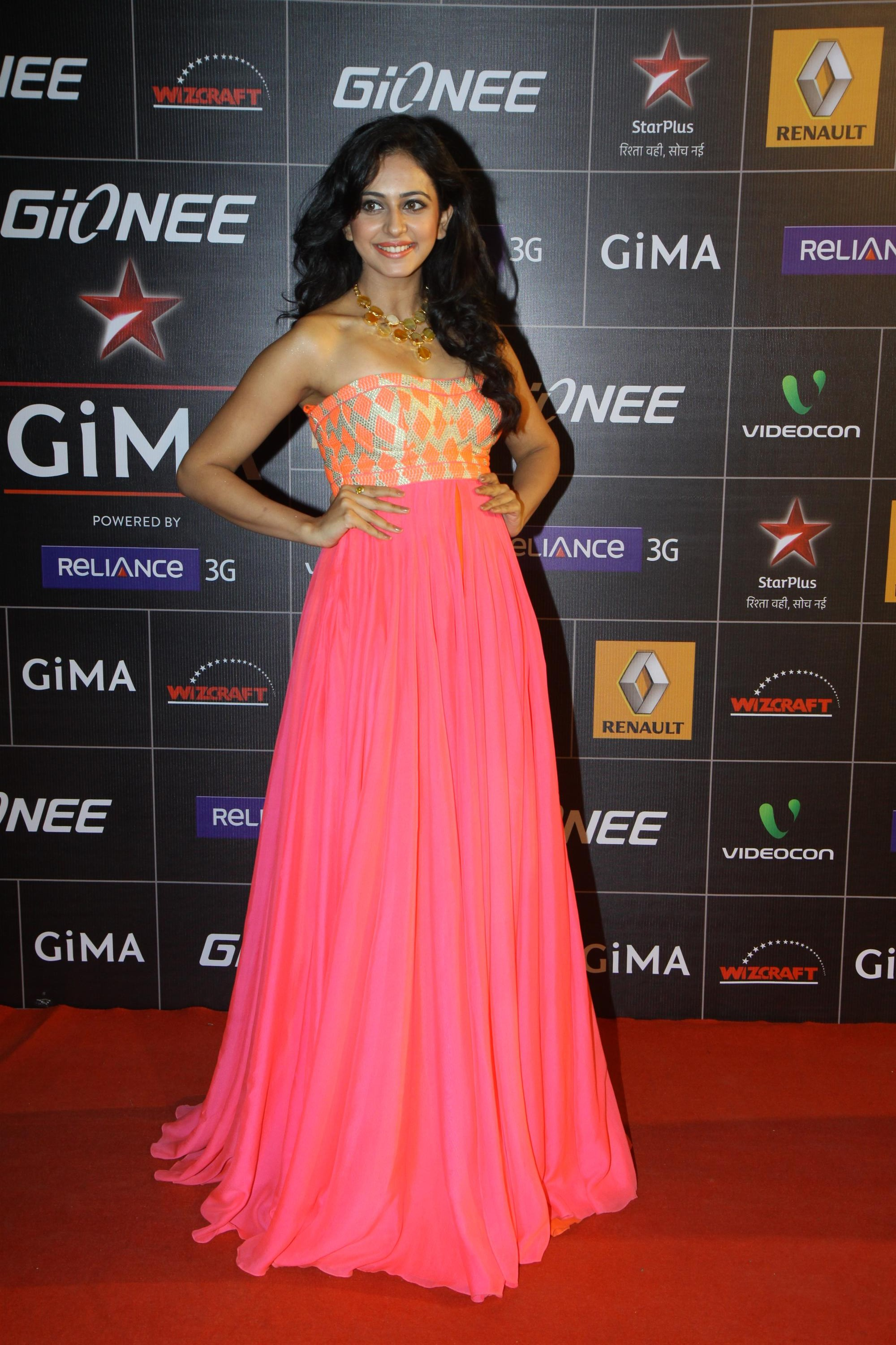 Spotted: Rakulpreet at GIMA awards in an Anita Dongre gown - Core ...