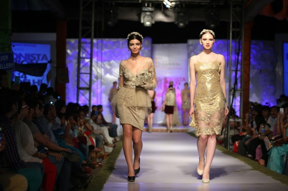 Guests Enjoying the Ramp Walk showing Golden Paradise Theme by Models