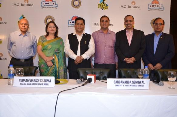 Delegates on the dias-K.K.Chansoria  Roopam Harish Sharma  Hon'ble minister Sarbananda Sonowal and Ashu Jindal