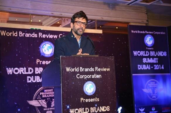 Actor-dancer Jaaved Jaaferi addresses the gathering at Asia Awards @ World Bra_