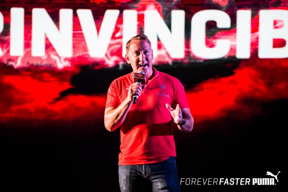 Arsenal legend Ray Parlour at the launch of the PUMA- Arsenal kits in India for the 2015-2016 season