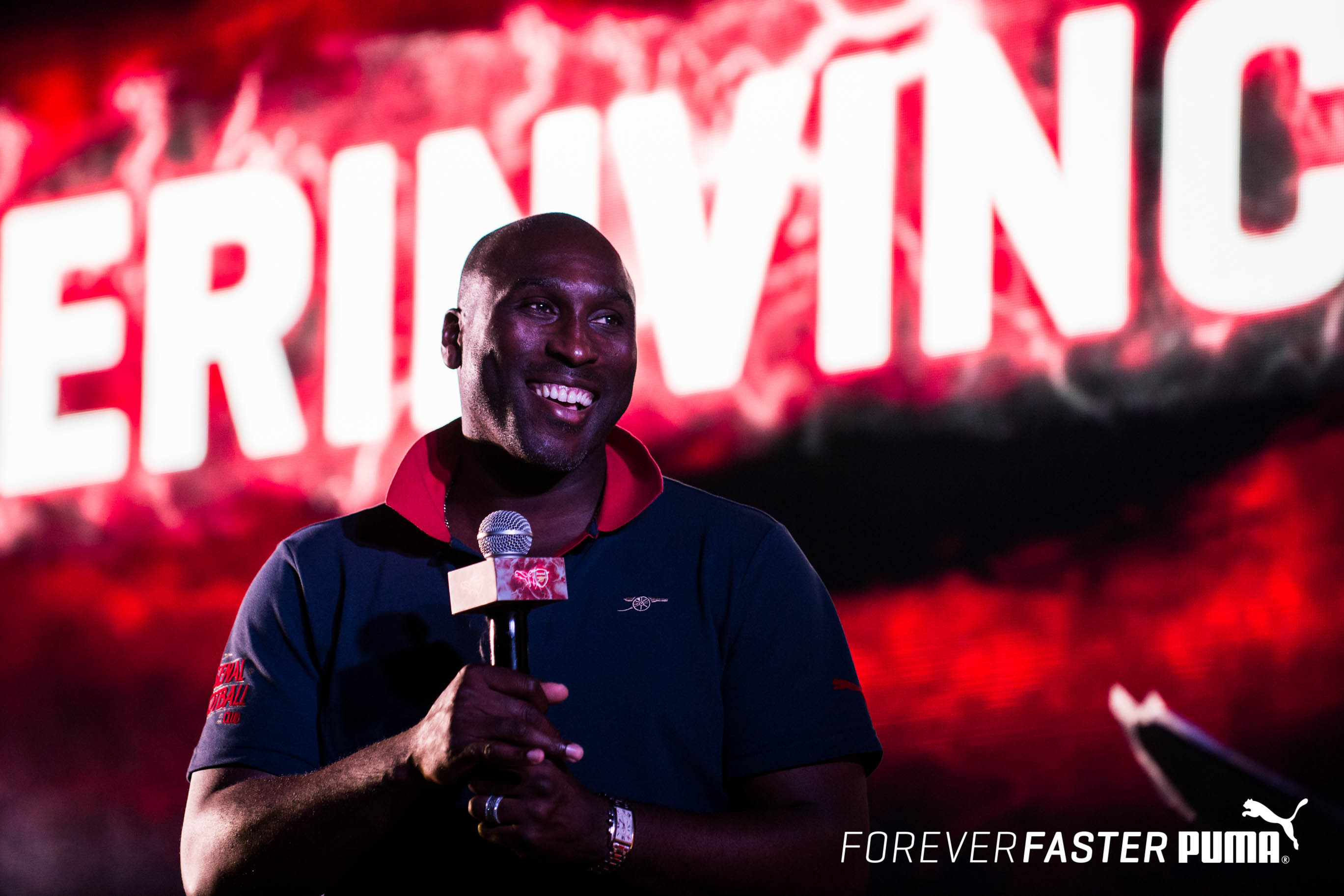 73711f0ddd5 ... kits in India for Arsenal legend Sol Campbell relives his glory days at  the launch of the PUMA- Arsenal Arsenal legends Ray Parlour ...