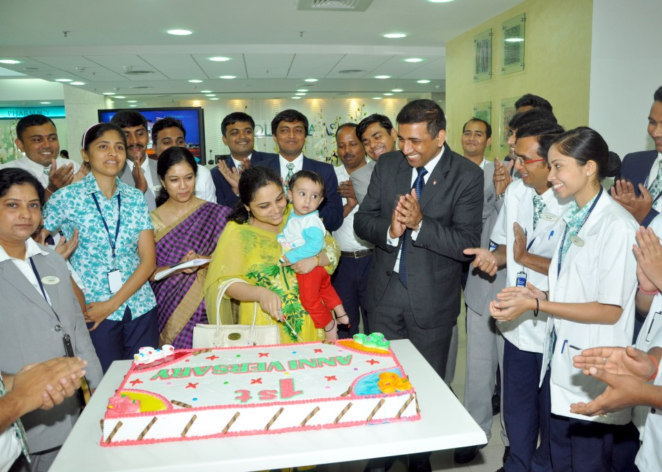 Completing one year celebration at Columbia Asia Hospital- Ahmedabad pic 7
