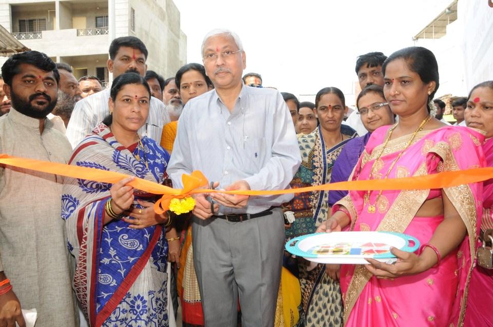 Mr Anil Mathur COO Godrej & Boyce inaugurates school in Shirwal