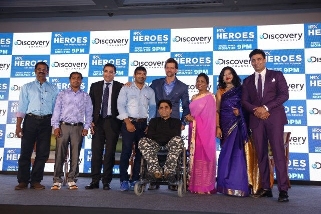 Bollywood actor Hrithik Roshan and Rahul Johri  EVP & GM - South Asia  Discovery Networks Asia- Pacific along with re_