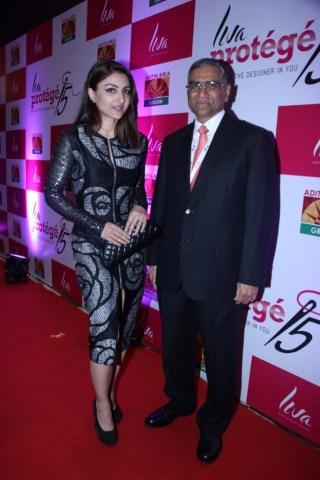 Actress Soha Ali Khan with Mr. K.K.  Maheshwari