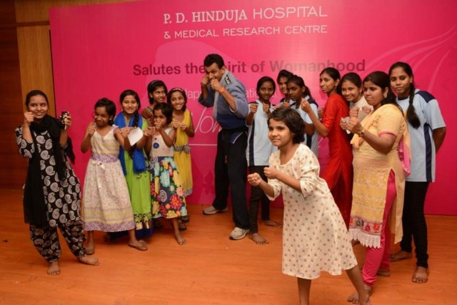 P.D.Hinduja Hospital organized a self-defence workshop for kids on account of _