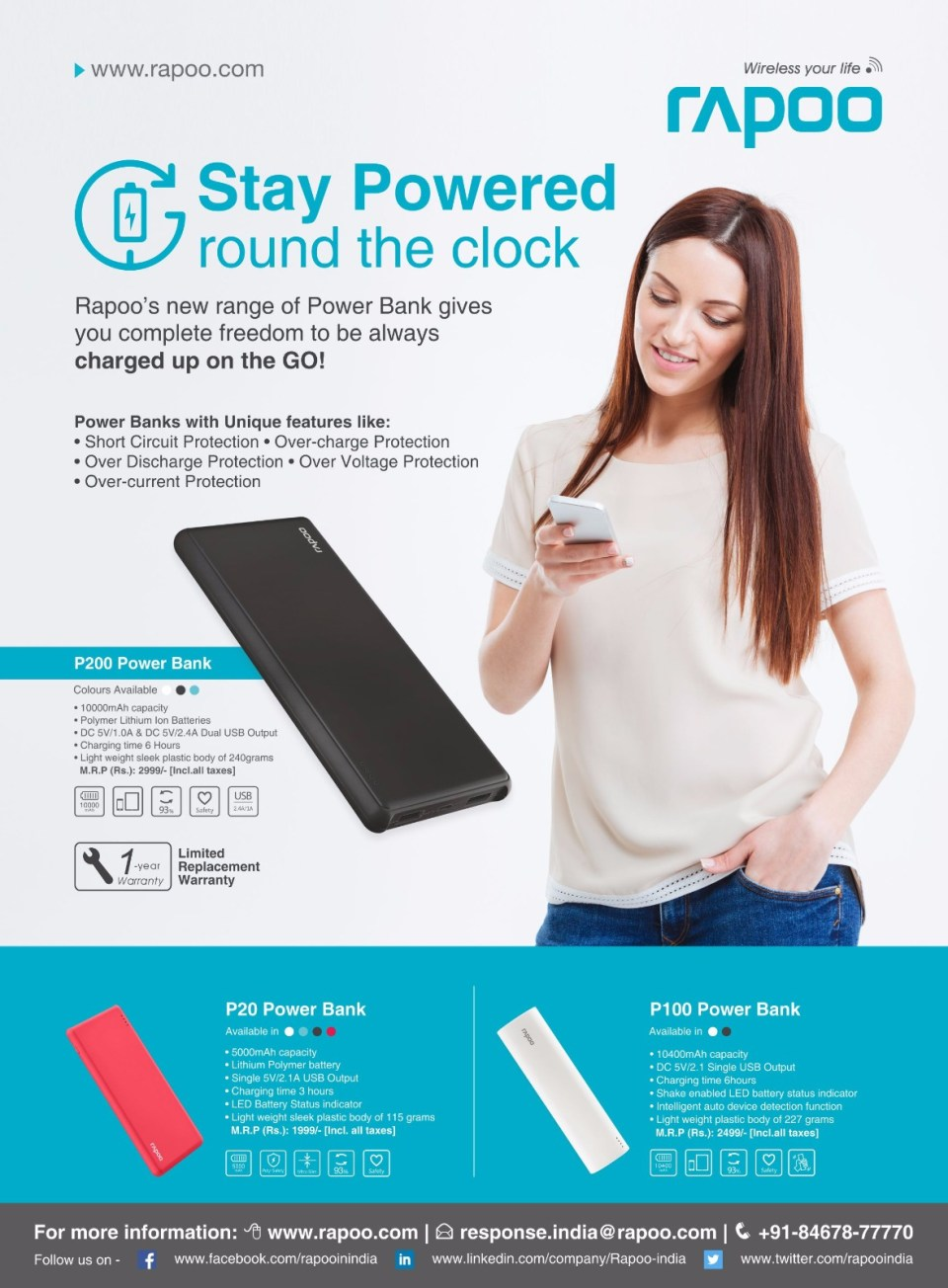 RAPOO Unveils BIS certified Power Banks in India - Core Sector