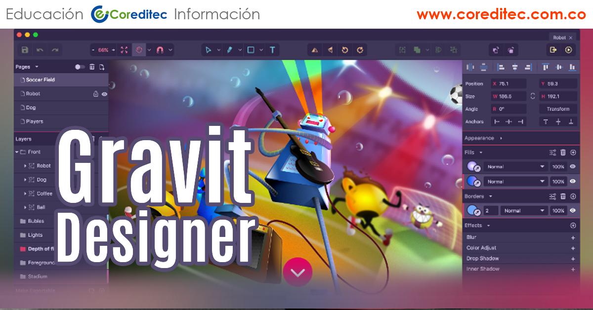 Gravit designer herramienta de diseño Revolucionaria