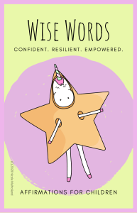 Wise Words Affirmation Cards for Children