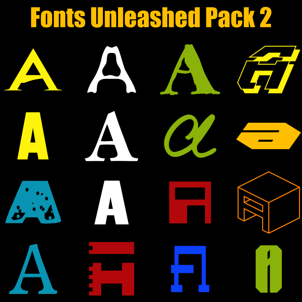 Download Fonts Unleashed Pack 2 - CorelDRAW Unleashed