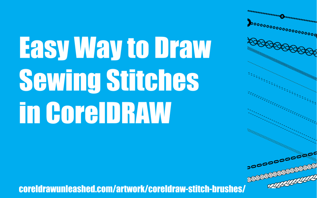 Easy Way to Draw Sewing Stitches in CorelDRAW