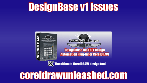 Design Base Free Automation Plug-In for CorelDRAW v1 Issues