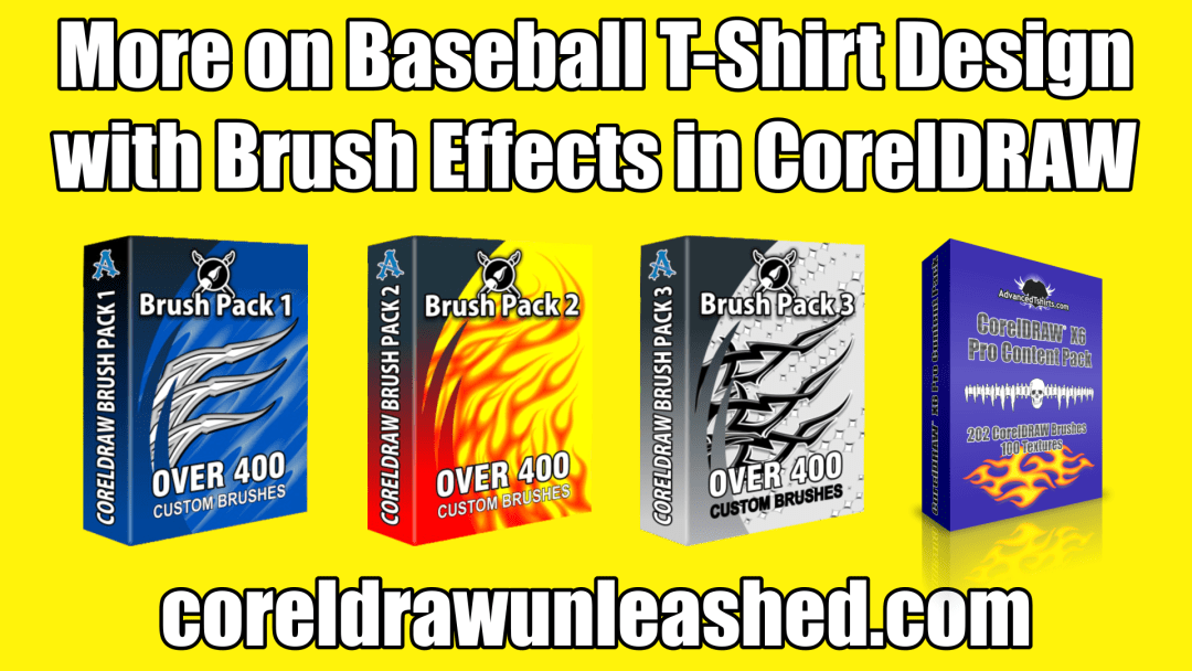 More on Baseball T-Shirt Design with Brush Effects in CorelDRAW
