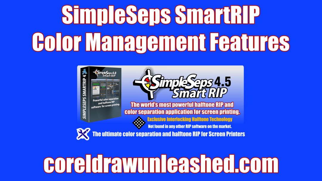 SimpleSeps SmartRIP Color Management Features