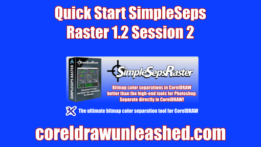 Quick Start SimpleSeps Raster 1.2 Session 2