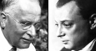 ناقش المحلل النفسي كارل يونج (إلى اليسار)، وعالِم الفيزياء فولفجانج باولي مبدأ الارتباطات اللاسببية Credit: ETH-Bibliothek Zürich/SPL, Bettman/Getty