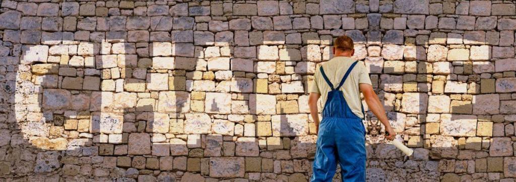 change sur un mur