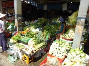 フィールドワークで訪れた市場