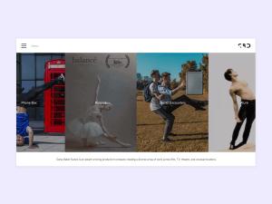 Screenshot Dance Page