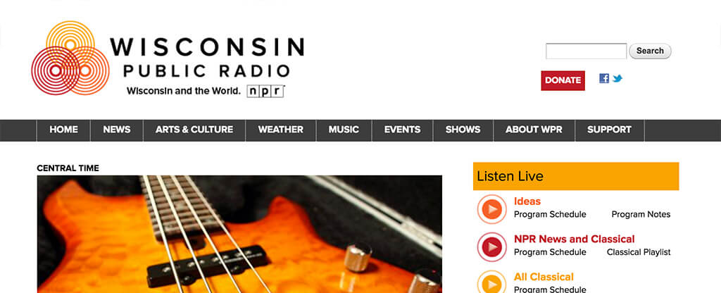 Wisconsin Public Radio - Central Time