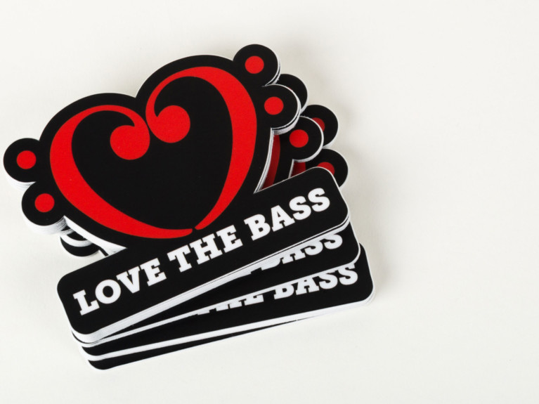 Love the Bass Stickers