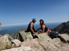 a beautiful day on top of Mount Katahdin