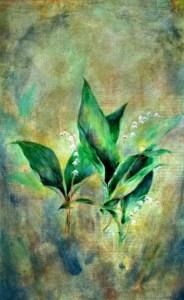 painting by Corey Okada: May's Flower