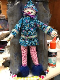 Kushtaka Doll 2018 Mixed media 14.5 x 7 x 4 inches