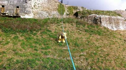 Corfe Castle - Teddy Zip Wire Challenge
