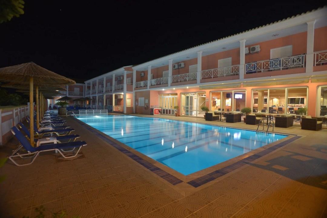 angelina-hotel-sidari-corfu-pool-area-at-night-1