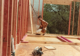 Keith framing the first Corias home