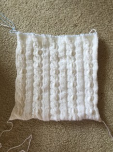 norwegian cable pillow off needles