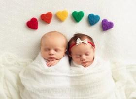 rainbow baby twins