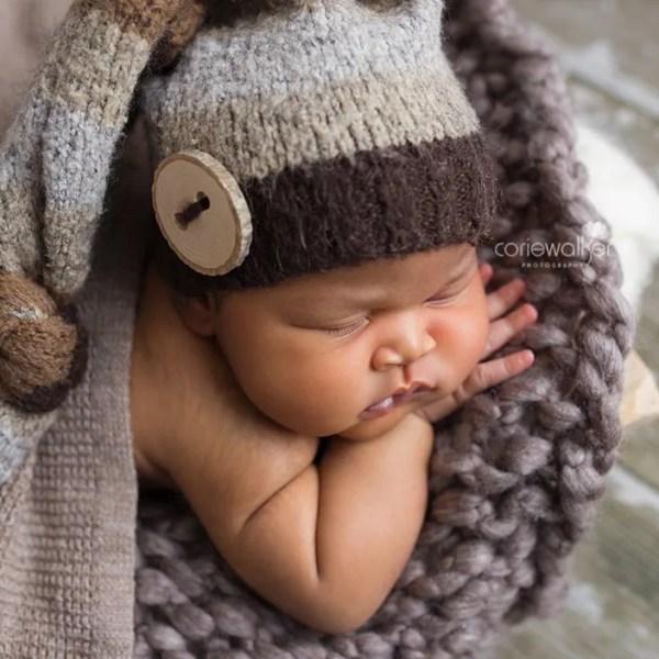 Newborns with chubby cheeks