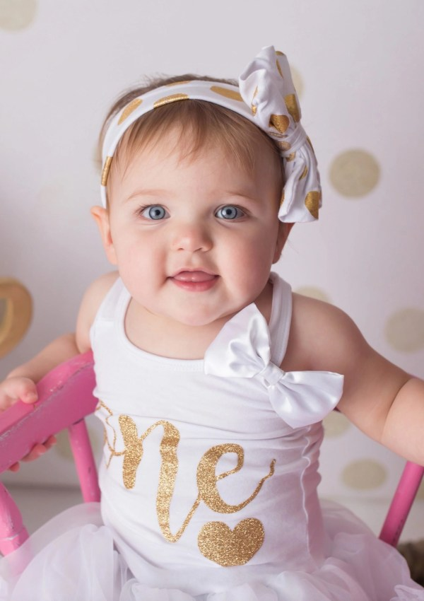 Pink and Gold First Birthday Session
