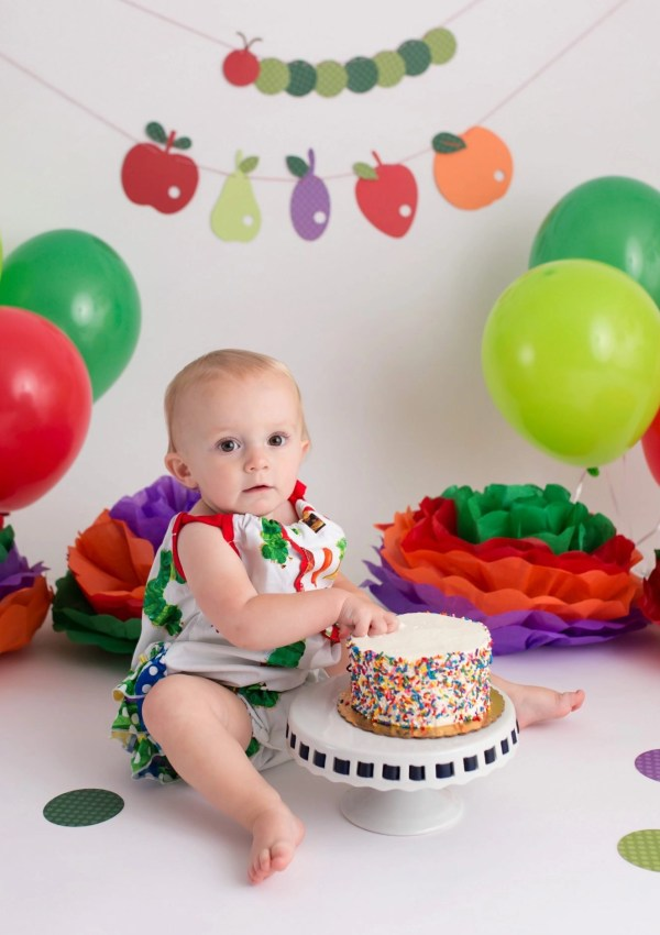 First Birthday Pictures | The Very Hungry Catepillar