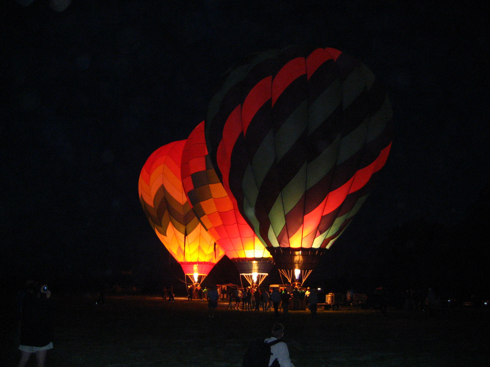 The Dawn Patrol prepares to take flight at the Windsor Hot Air Balloon Classic in Windsor, California.
